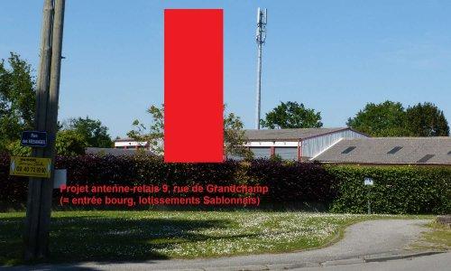 Pétition : Pas de nouvelle antenne-relais rue de Grandchamp à Treillières !