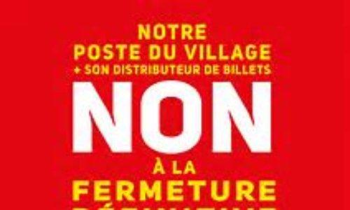 Non à la fermeture du bureau de poste du Village