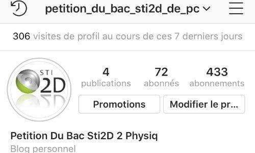 petition du bac sti2d de Pysique-Chimie