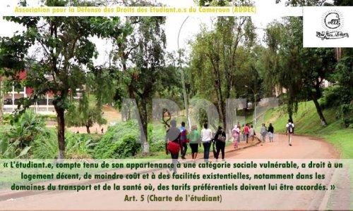 Adoption de la charte de l'étudiant.e pouvant aboutir à la révision et la légalisation d'un statut commun des étudiant.e.s  du Cameroun