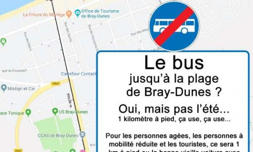 Des bus ou des navettes jusqu'à la plage de Bray-Dunes !