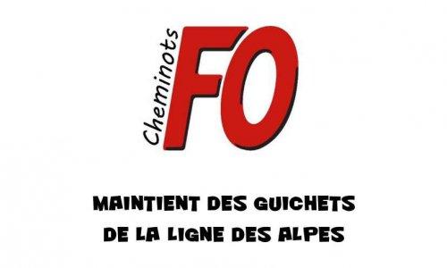Pétition : Non à la fermeture des guichets SNCF sur la ligne des Alpes.