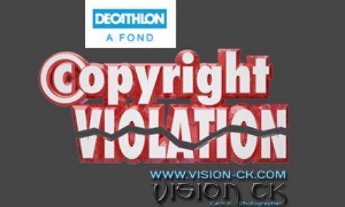 VISION CK est victime d'un Vol de Droit d'Auteur par DECATHLON