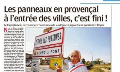 Pétition : Préservons notre identité provençale : non au retrait des panneaux d'entrée de ville !
