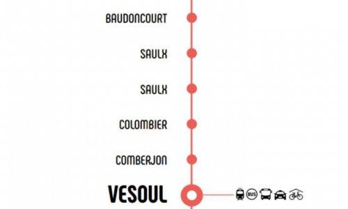 Ligne Mobigo 605 Saint-Loup Luxeuil Vesoul : Maintien des arrêts de bus Grand-Grésil, Aristide Briand, République à Vesoul