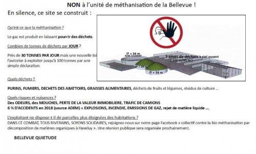 Pétition : NON à l'unité de biométhanisation de la Bellevue