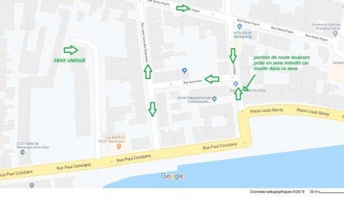 Résolution des problèmes liés au changement de circulation autour de la place Louis Bavais et rue Lavoisier