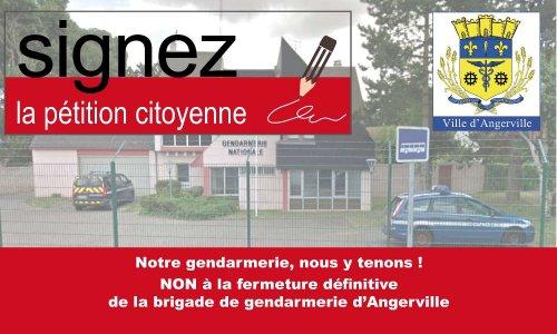 NON à la fermeture définitive de la brigade de gendarmerie d'Angerville