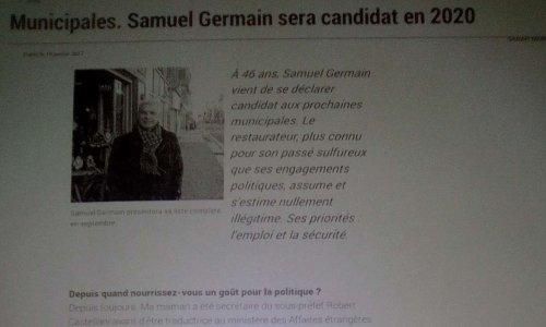 Samuel Germain Le-Roux à BRESt candidat aux Municipales affabule !!!