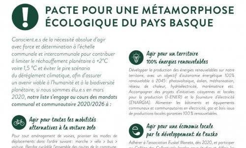 Pétition : Pour une métamorphose écologique du Pays Basque / Ipar Euskal Herriko metamorfosi ekologikoaren alde
