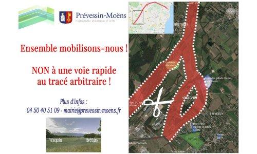 Pétition : CONTRE le prolongement de la voie rapide RD35 par Prévessin-Moëns POUR un plan de circulation favorisant le développement des transports publics et la mobilité douce