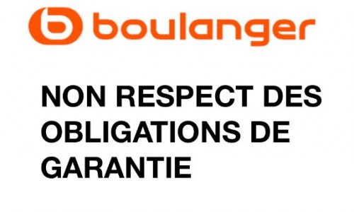 Pétition : BOULANGER ET NON RESPECT DES OBLIGATIONS DES GARANTIES
