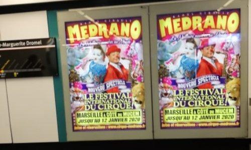 STOP AUX AFFICHAGES MEDRANO DANS LE METRO DE MARSEILLE