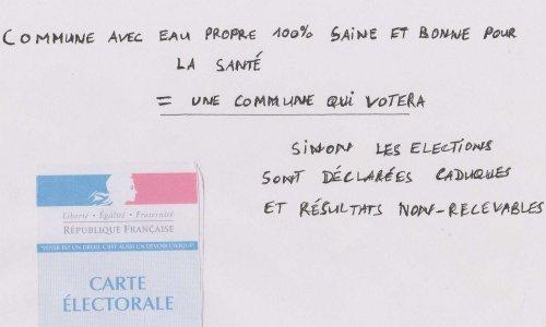 EAU SAINE ET BONNE POUR LA SANTE DANS NOS COMMUNES CONTRE ELECTION