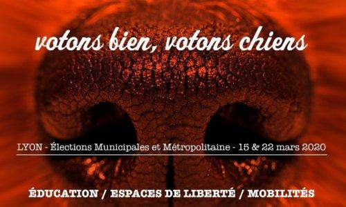 VOTONS BIEN, VOTONS CHIENS. Élections Lyon.