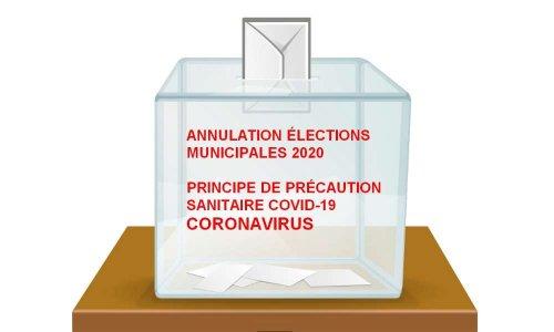 Pétition : ANNULATION DES ÉLECTIONS MUNICIPALES 2020 PAR PRINCIPE DE PRÉCAUTION SANITAIRE COVID-19