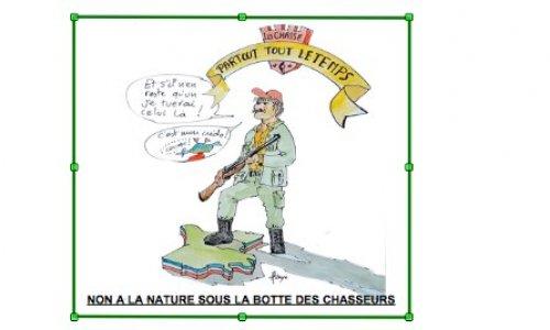 Pétition : Non à la nature sous la botte des chasseurs!