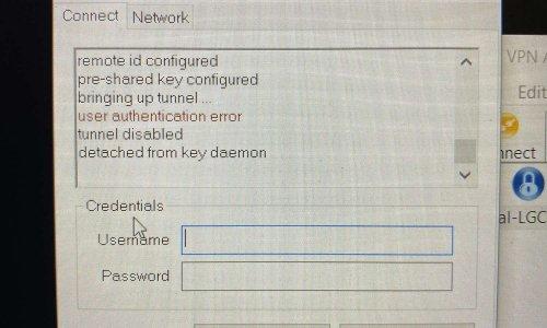 Échec du VPN