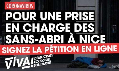 Pétition : Coronavirus : pour un prise en charge des sans-abri à Nice