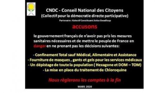 Une plainte contre le scandale d'état pour la crise du COVID-19 ?