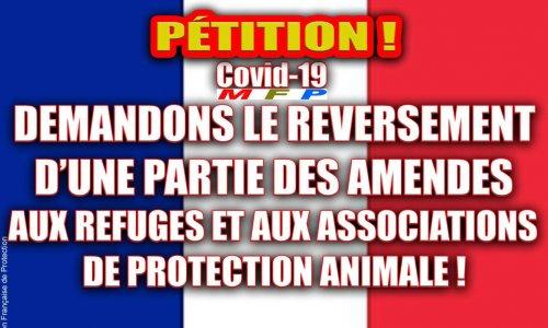 Demandons le reversement d'une partie des amendes aux refuges et aux associations de protection animale