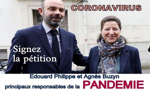 Pétition : CORONAVIRUS : Édouard Philippe et Agnès Buzyn doivent être poursuivis et condamnés !