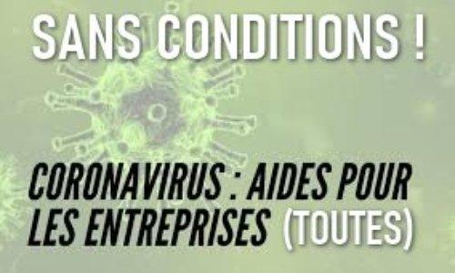 Coronavirus : Indemnisation SANS CONDITION pour TOUS les indépendants !