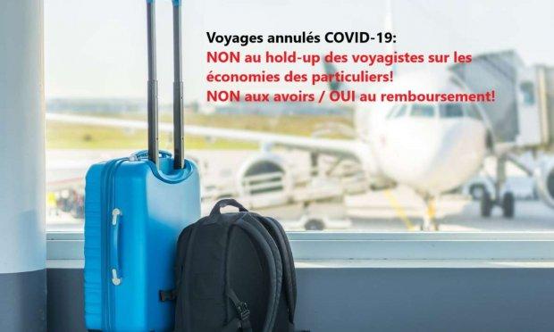 Halte au hold-up des voyagistes avec la bénédiction du Gouvernement! Non à l'ordonnance sur le non remboursement des voyages annulés!