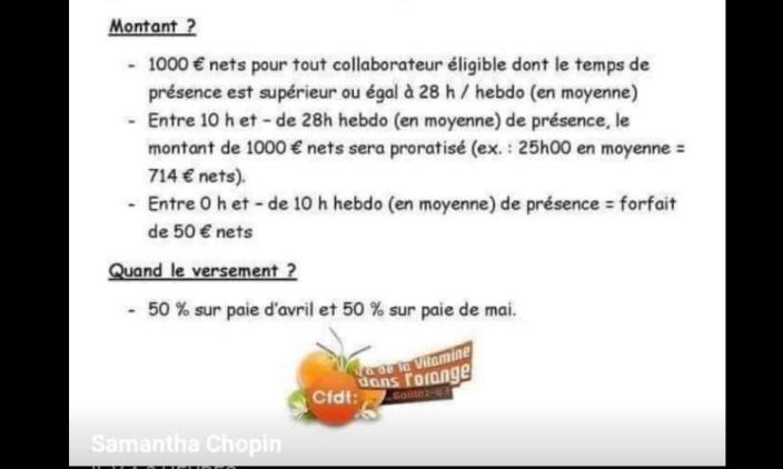 Pétition : Prime de 1 000€ = mensonge.