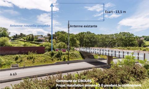 Pétition : VINCI, FREE et la Commune de CIBOURE profitent du confinement ... pour tenter l'installation d'une antenne 5G de 33 mètres de hauteur et de ses relais à proximité immédiate d'habitations ... Visible de la mer à + 68 mètres NGF