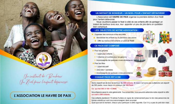 Soutient à l'association Havre de Paix