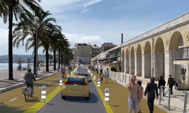 Pour la suppression totale des pistes cyclables provisoires à Nice