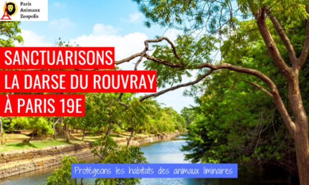 Pétition : Sanctuarisons la darse du Rouvray, Paris 19ème !