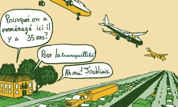 Nuisances sonores causées par les petits avions de l'aéroport Lyon-Bron