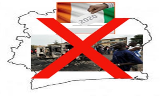 """En 2020, JE  dis  """" NON """" à une crise électorale en Cote d'Ivoire."""