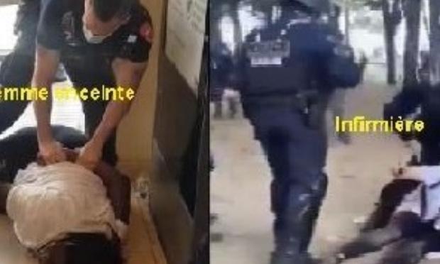 Non aux violences policières contre les femmes.