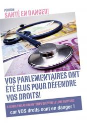 Pétition : La santé en danger - Non au lobby financier!