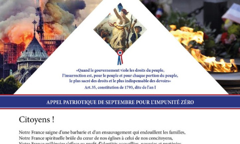Pétition : Appel Patriotique de Septembre pour l'impunité Zéro