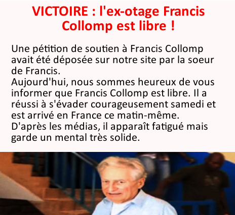 Victoire : Soutien à Francis Collomp